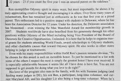 Ron Raab-Long Spirit Winner